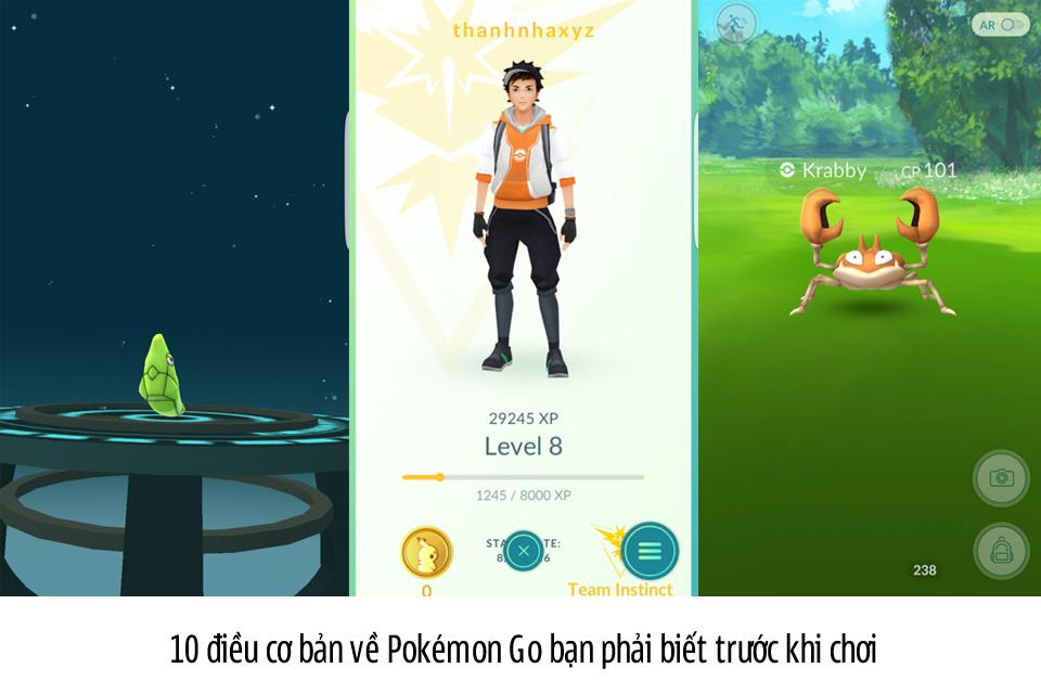 10 điều cơ bản về Pokémon Go bạn phải biết trước khi chơi